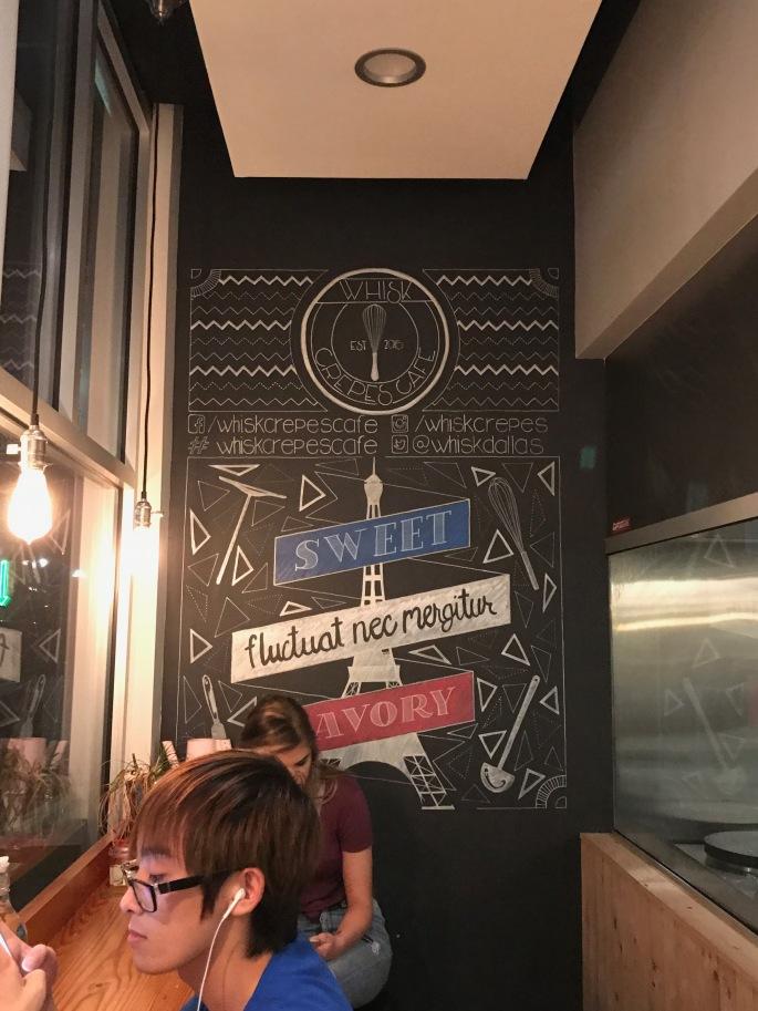 Whisk Crepes Cafe Chalk Board