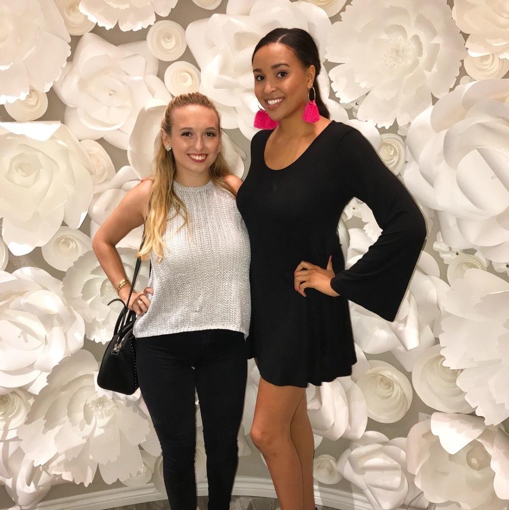 Madisen + Ali on Floral Wall