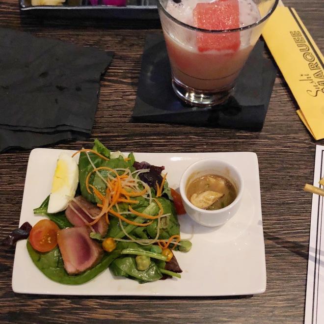 Chicken & Onion Soup + Seared Tuna Salad.jpg