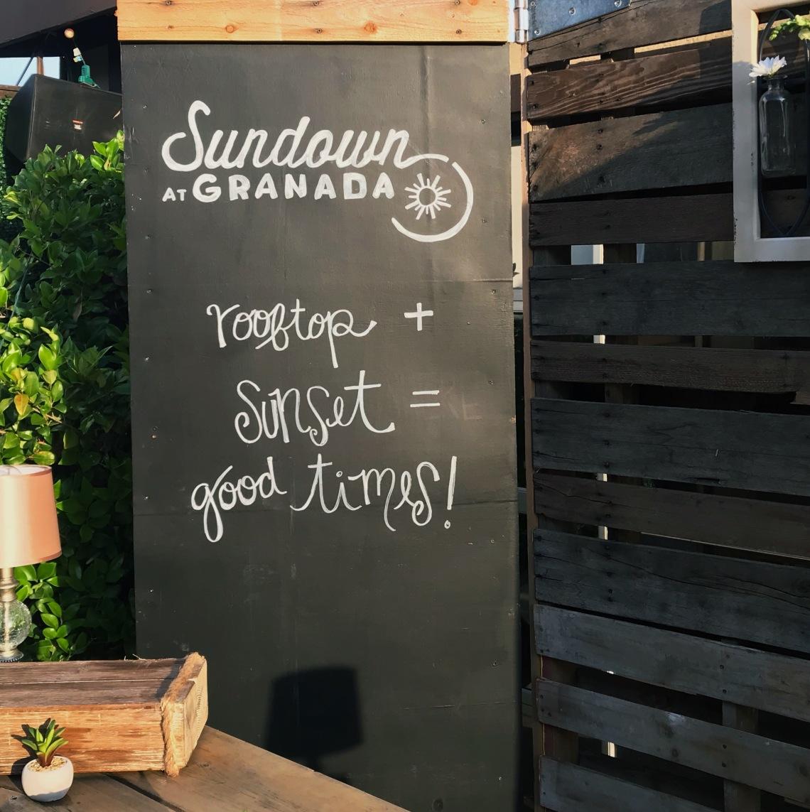 Sundown at Granada - Chalk Board 2.jpg