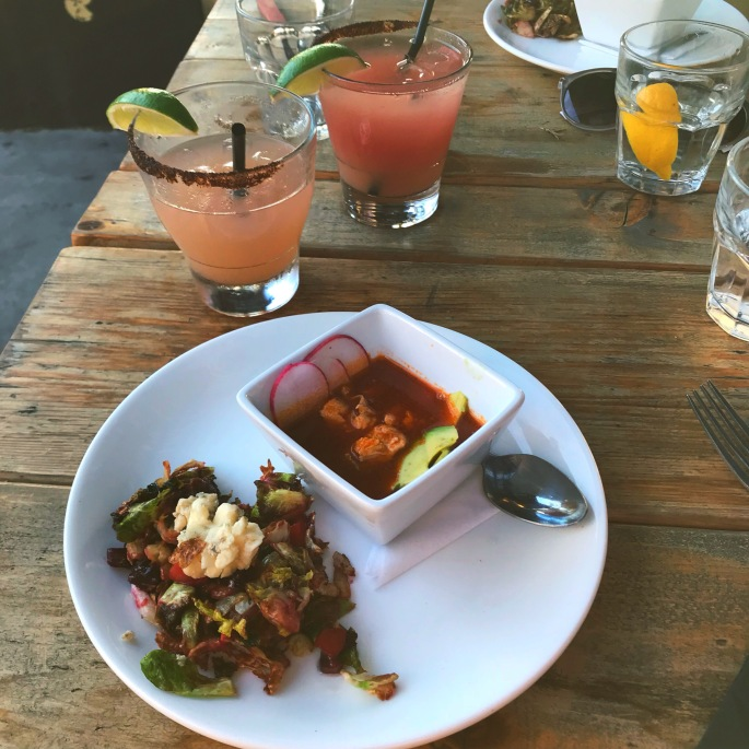 Sundown at Granada - Crispy Brussels and Seafood Pozole.jpg