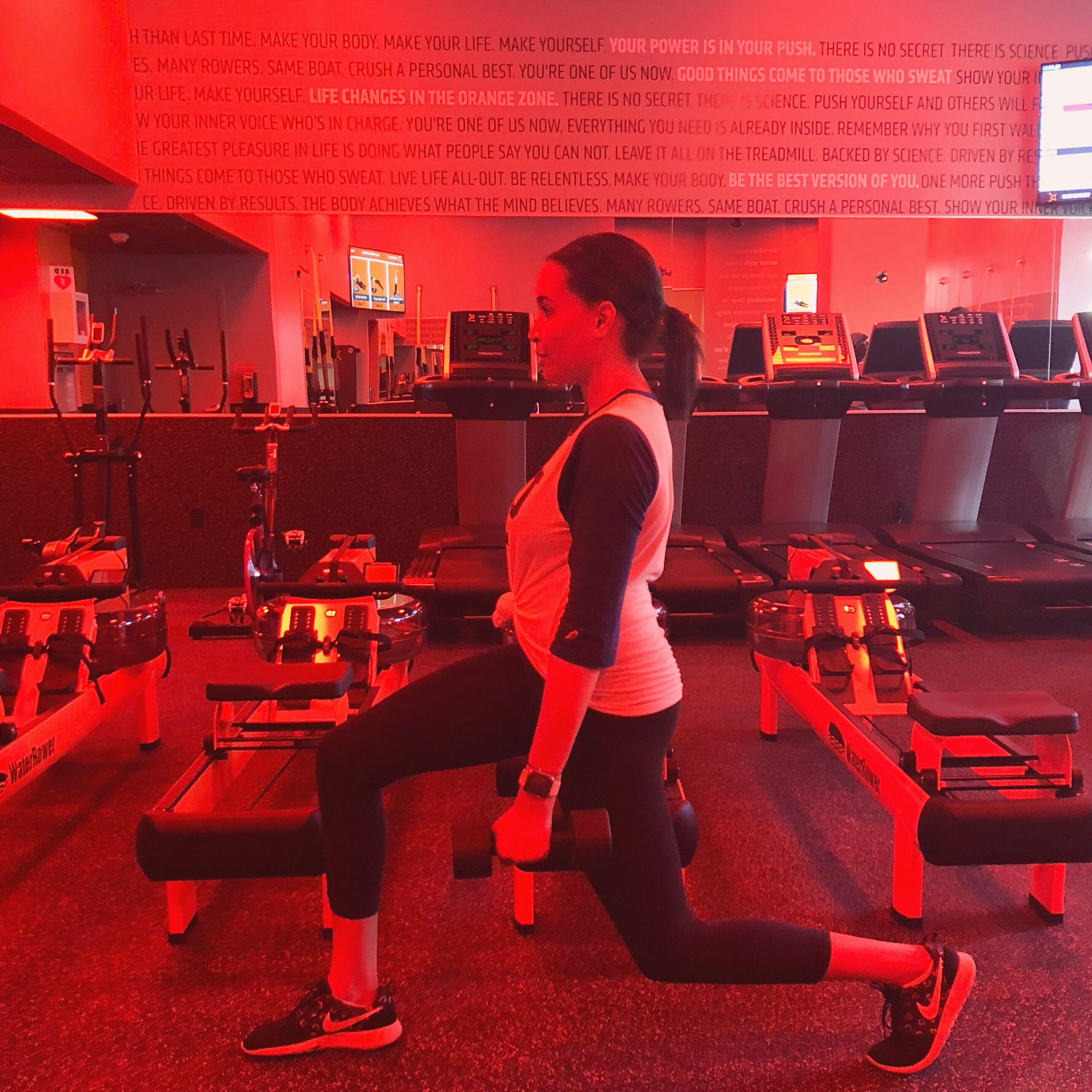 Madisen Reid Lunging at Orangetheory Fitness Victory Park.JPG
